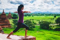 Yoga in Bagan, Myanmar