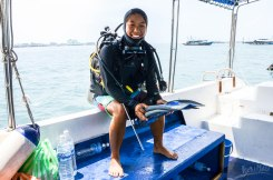 About to go diving!