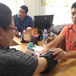 Quinton taking blood pressures