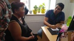 Dr. Escalante giving health advice