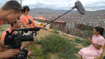 Film crew hard at work!