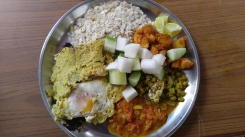 """Beaten"" rice - I think this is Newari food....haha"