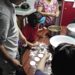 Making momos is a family affair