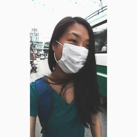 Wearing a mask outside